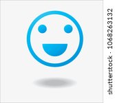 smile icon in trendy flat style ...