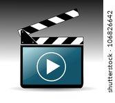 movie clapper board   Shutterstock .eps vector #106826642