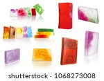hand made natural solid soaps... | Shutterstock . vector #1068273008