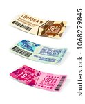 discount coupon gift coupon... | Shutterstock .eps vector #1068279845