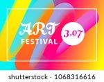 art festival banner template.... | Shutterstock .eps vector #1068316616