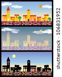 small mediterranean city with... | Shutterstock .eps vector #106831952