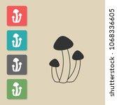 mushroom   vector icon. symbol...