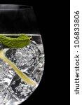 Elegant Gin Tonic Glass On...