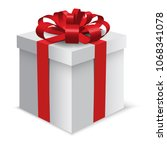 isolated vector grey gift box... | Shutterstock .eps vector #1068341078