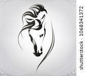 vector silhouette of a horse's... | Shutterstock .eps vector #1068341372