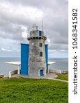 lighthouse at matxitxako  cape... | Shutterstock . vector #1068341582