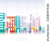 vector illustration colorful... | Shutterstock .eps vector #1068347636