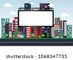 vector illustration of urban...   Shutterstock .eps vector #1068347735