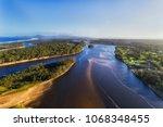 nambucca river near entrance to ...   Shutterstock . vector #1068348455