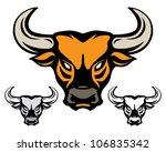 head of bull isolated on white   Shutterstock .eps vector #106835342