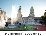 building of congress and the... | Shutterstock . vector #106835462
