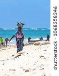 diani beach  mombasa  kenya  ... | Shutterstock . vector #1068358346