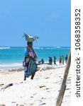 diani beach  mombasa  kenya  ... | Shutterstock . vector #1068358352