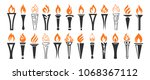 Flame And Torch Icons Set...