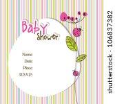 baby arrival card   Shutterstock .eps vector #106837382