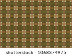 sketch in green  brown and gray ... | Shutterstock . vector #1068374975