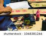 the dubai mall  dubai  uae   02.... | Shutterstock . vector #1068381266