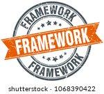 framework round grunge ribbon... | Shutterstock .eps vector #1068390422