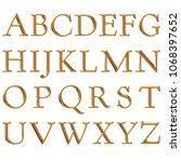 dark gold metallic antique... | Shutterstock . vector #1068397652