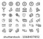 finance hand drawn icon design... | Shutterstock .eps vector #1068407852