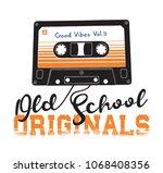cassette illustration for t...   Shutterstock .eps vector #1068408356