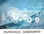 medical technology concept | Shutterstock . vector #1068408995