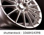brand new vehicle rims made... | Shutterstock . vector #1068414398