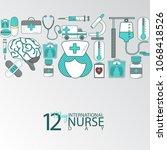 international nurse day | Shutterstock .eps vector #1068418526