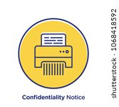 confidentiality related offset... | Shutterstock .eps vector #1068418592