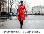 paris  france   march 2  2018 ...   Shutterstock . vector #1068419552
