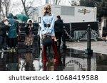 paris  france   march 2  2018 ...   Shutterstock . vector #1068419588