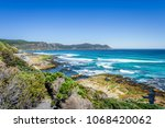 amazing view to stunning rocky... | Shutterstock . vector #1068420062
