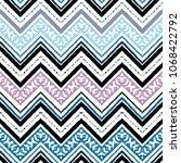 seamless ethnic zigzag chevron... | Shutterstock .eps vector #1068422792