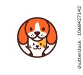 dog cat pet circle round... | Shutterstock .eps vector #1068427142