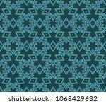 line art decorative geometric... | Shutterstock .eps vector #1068429632