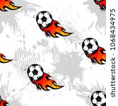 abstract seamless football... | Shutterstock .eps vector #1068434975