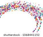 festive confetti circle... | Shutterstock .eps vector #1068441152