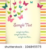 vector floral greeting card...