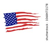 flag of united states of... | Shutterstock .eps vector #1068472178