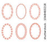set of oval frames | Shutterstock . vector #1068483218