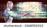 nurturing technology and... | Shutterstock . vector #1068503312