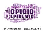opioid crisis word cloud... | Shutterstock . vector #1068503756