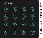 hospital thin line icons set... | Shutterstock .eps vector #1068505412
