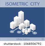 the isometric city with... | Shutterstock .eps vector #1068506792