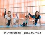 parents and children go in for...   Shutterstock . vector #1068507485