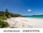 amazing view to small paradise... | Shutterstock . vector #1068525596