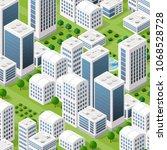 vector isometric urban... | Shutterstock .eps vector #1068528728