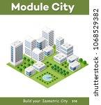 vector isometric urban... | Shutterstock .eps vector #1068529382