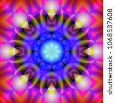 decorative fantasy   flower...   Shutterstock . vector #1068537608